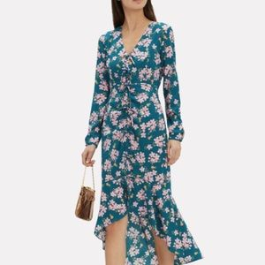 Intermix Adrina Silk Floral High Low Dress